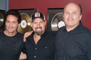 Chris Hawkey, Artist, Jason Perry Producer Nashville_Jason Perri, Chris Hawkey & Stan.